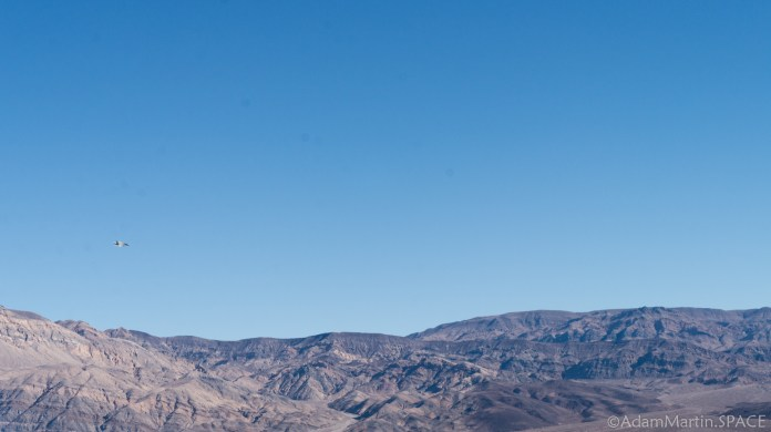 Death Valley - Fighter jet overhead near Panamint Springs