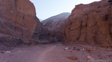 Death Valley - End of the easy trail section near Natural Bridge
