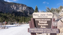 Mount Charleston - Mary Jane Falls trailhead