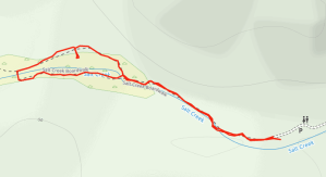 GaiaGPS hiking data @ Death Valley - Salt Creek