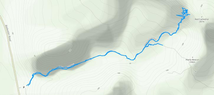 GaiaGPS hiking data @ Death Valley - Golden Canyon
