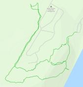 GaiaGPS hiking data @ Kohler-Andrae: Woodland Dunes/Black River Marsh trail loop