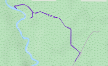 GaiaGPS hiking data @ Shale Falls (Failed)