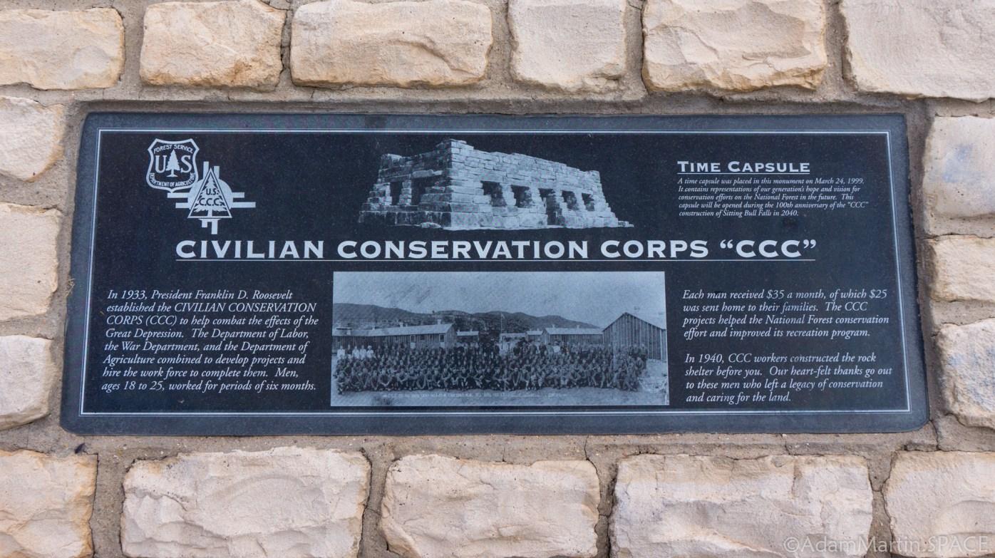 Sitting Bull Falls - CCC Time Capsule