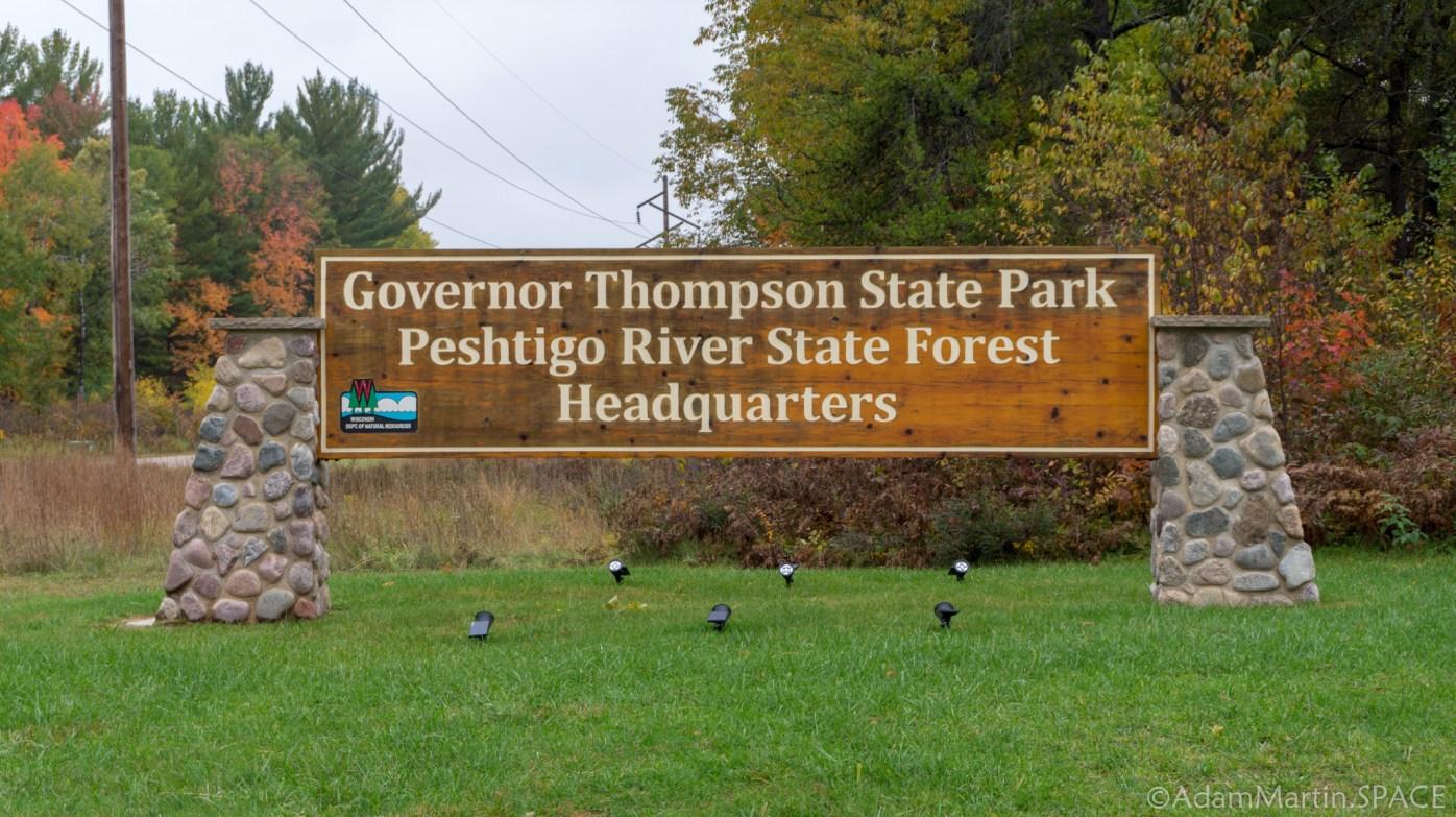 Governor Thompson State Park – Park Entrance Sign