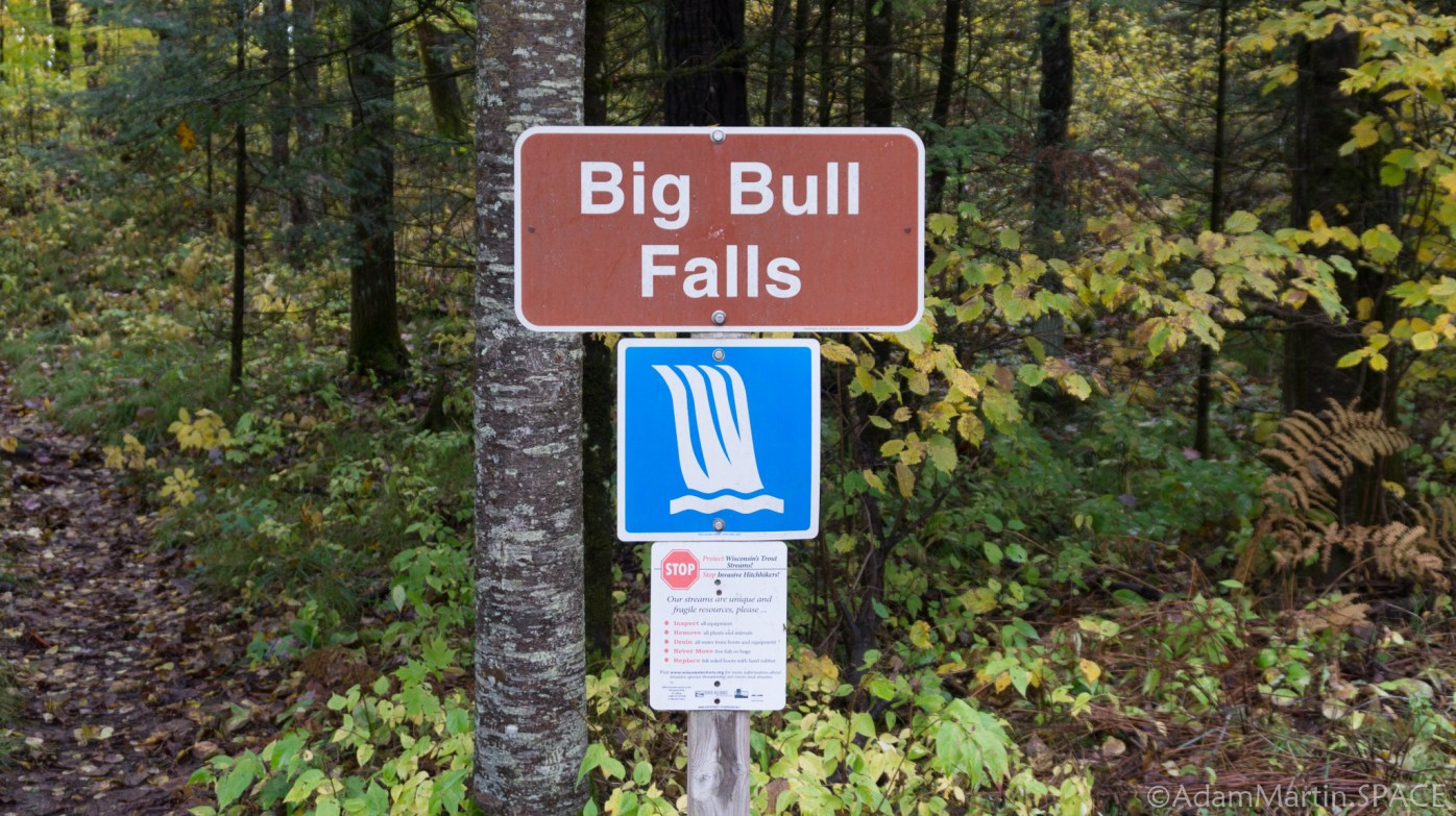 Big Bull Falls - Trail Sign