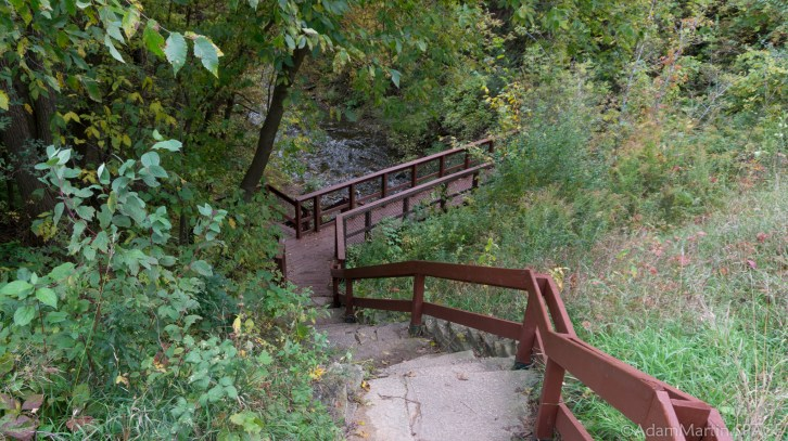 Wequiock Falls - Stairs down to the creek