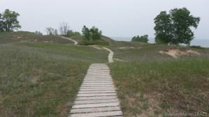 Kohler-Andrae State Park - Rolling dunes at Cordwalk south section