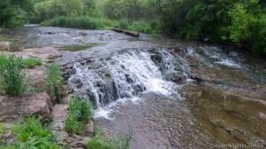 Sauk Creek Falls - View from south bank below falls