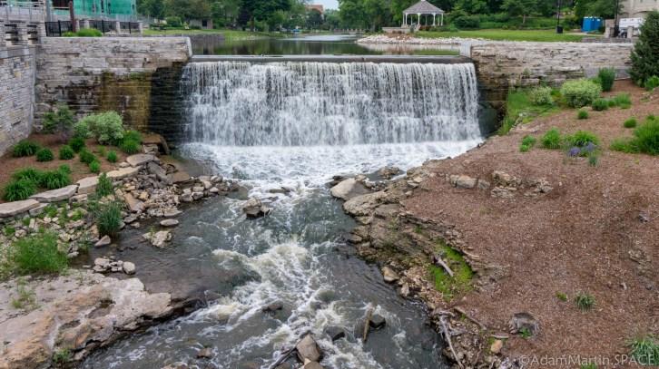 Menomonee Falls - Mill Pond Park spillway