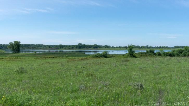 Richard Bong - Green trail view of Wolf Lake