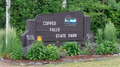 Copper Falls State Park - Entrance sign