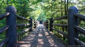 Copper Falls State Park - Bridge over Bad River on Doughboys Trail