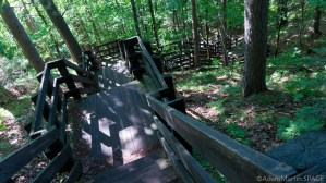Copper Falls State Park - Stairs leading to observation tower on CCC trail