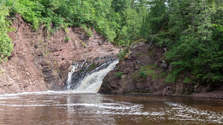 Superior Falls - Side view of falls & cliffs