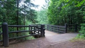 Copper Falls State Park - Viewing platform above Brownstone Falls