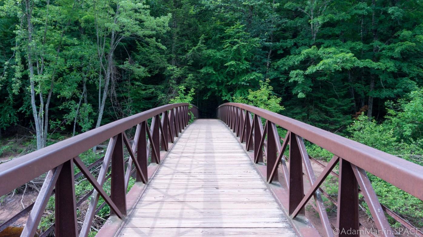 Copper Falls State Park - Bridge over Bad River near Devil's Gate