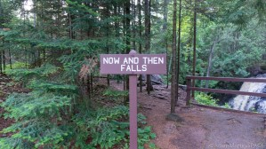 Amnicon Falls State Park - Sign at Now and Then Falls