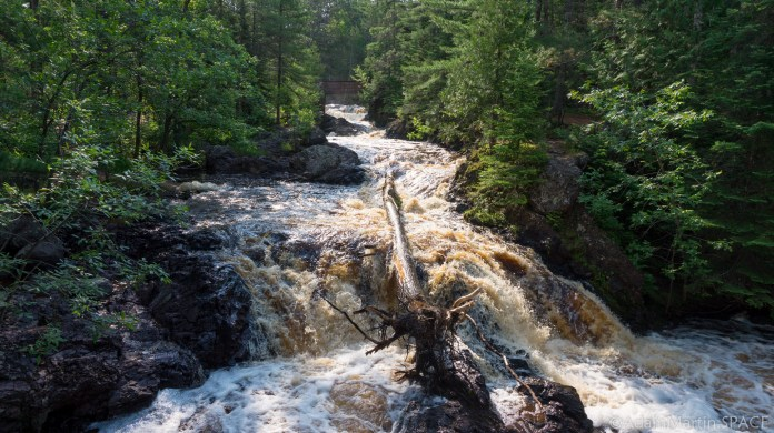 Amnicon Falls State Park - Unnamed falls leading towards Snake Pit Falls