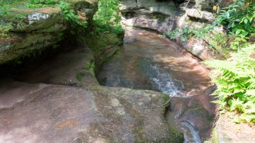 Twin Falls - Upper falls from above