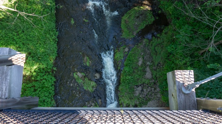 View from bridge over Glen Park Falls