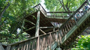 Cascade Falls - Stairs down to falls trail