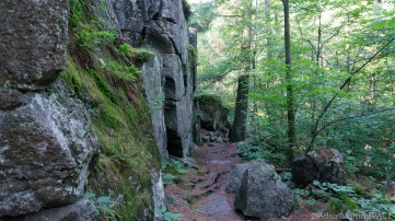 Interstate State Park - Trail sneaking along cliffsides of River Bluff Trail