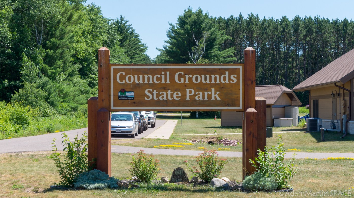 Council Grounds State Park - Entrance sign