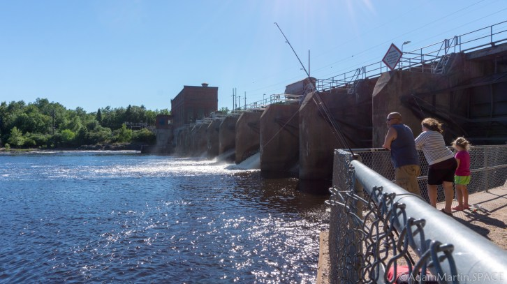 Council Grounds State Park - Alexander Hydro dam on the Wisconsin River