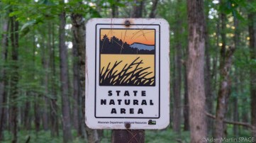 Council Grounds State Park - State Natural Area marker sign
