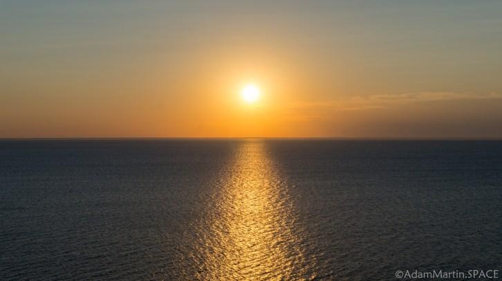 Ellison Bluff County Park - Sunset over Ellison Bay