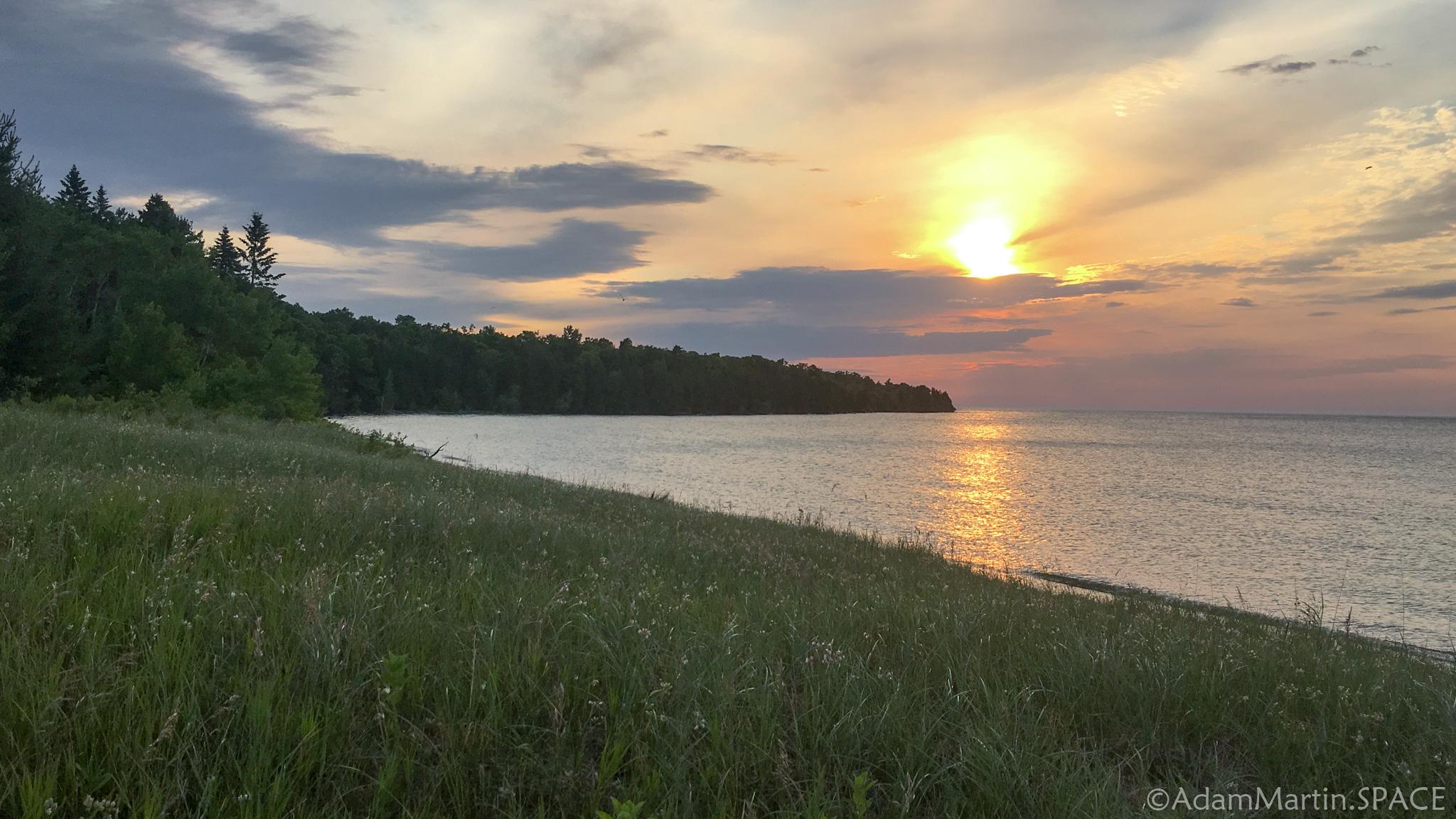 Newport State Park - Sunrise over Europe Bay