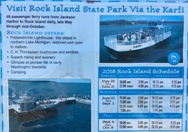 Washington Island - Karfi ferry poster for Rock Island travel
