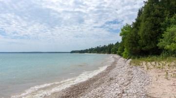 Rock Island State Park - Beach access at Rutabaga Field