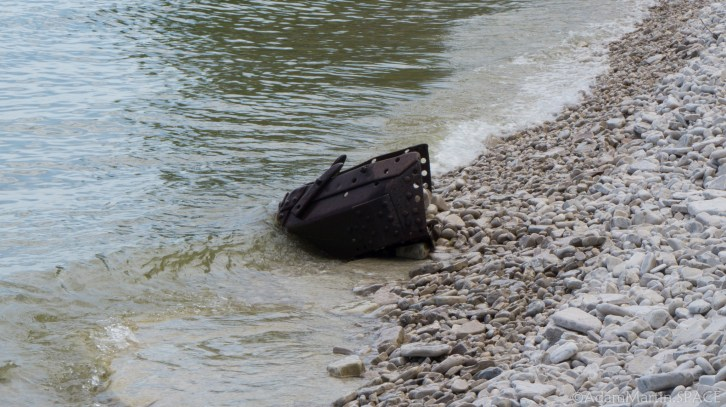 Rock Island State Park - Metal debris on the shore