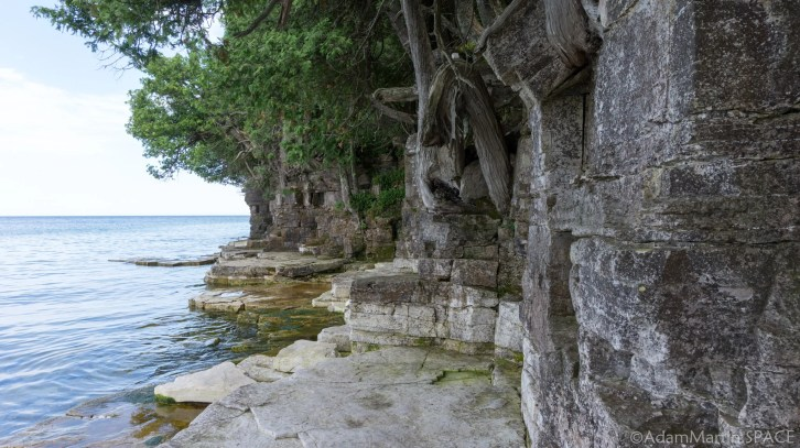 Rock Island State Park - Stone shelves at water level
