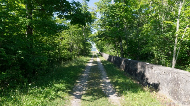 Rock Island State Park - Maintenance road