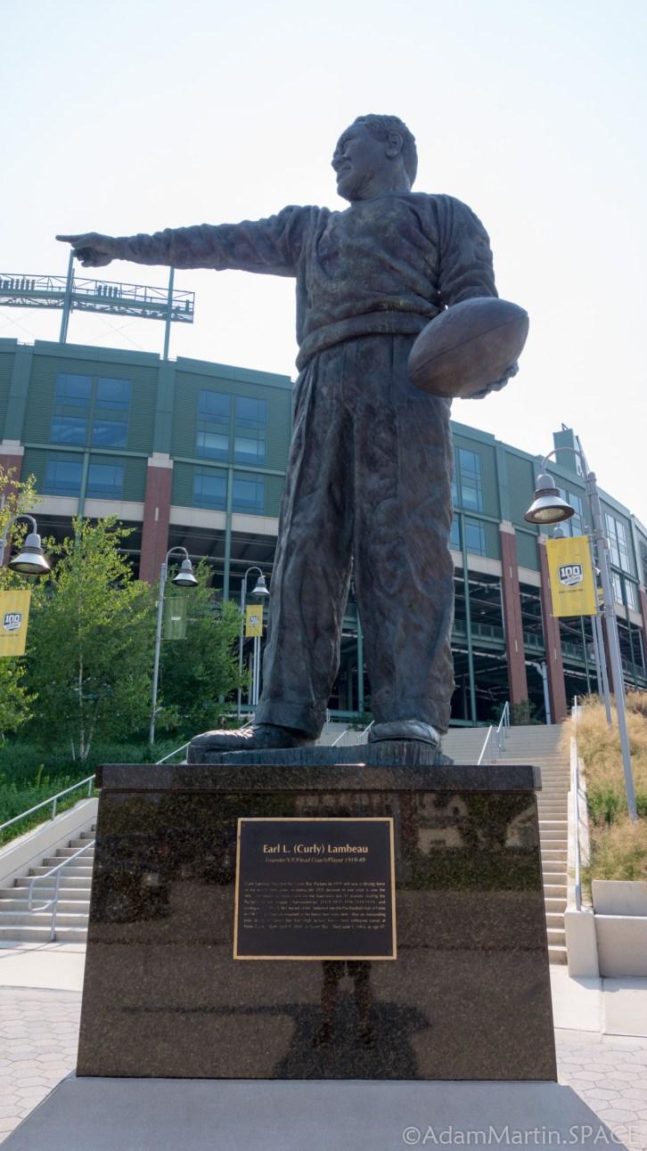 Lambeau Field - Curly Lambeau Statue
