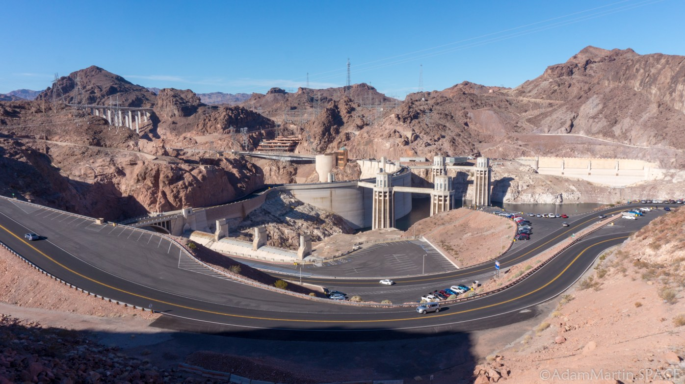 Hoover Dam - View from Parking Lot Above