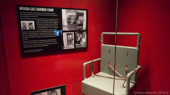 The Mob Museum - Gas Chamber Chair from Carson City