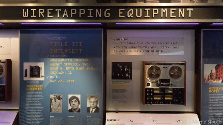 The Mob Museum - Wiretapping display