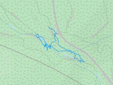 GaiaGPS hiking data @ Baird Creek Falls