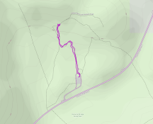 GaiaGPS hiking data @ Natural Bridge State Park