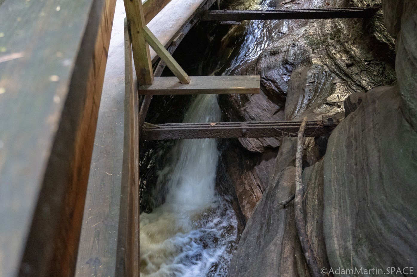 Dells of the Wisconsin River - Small Waterfall