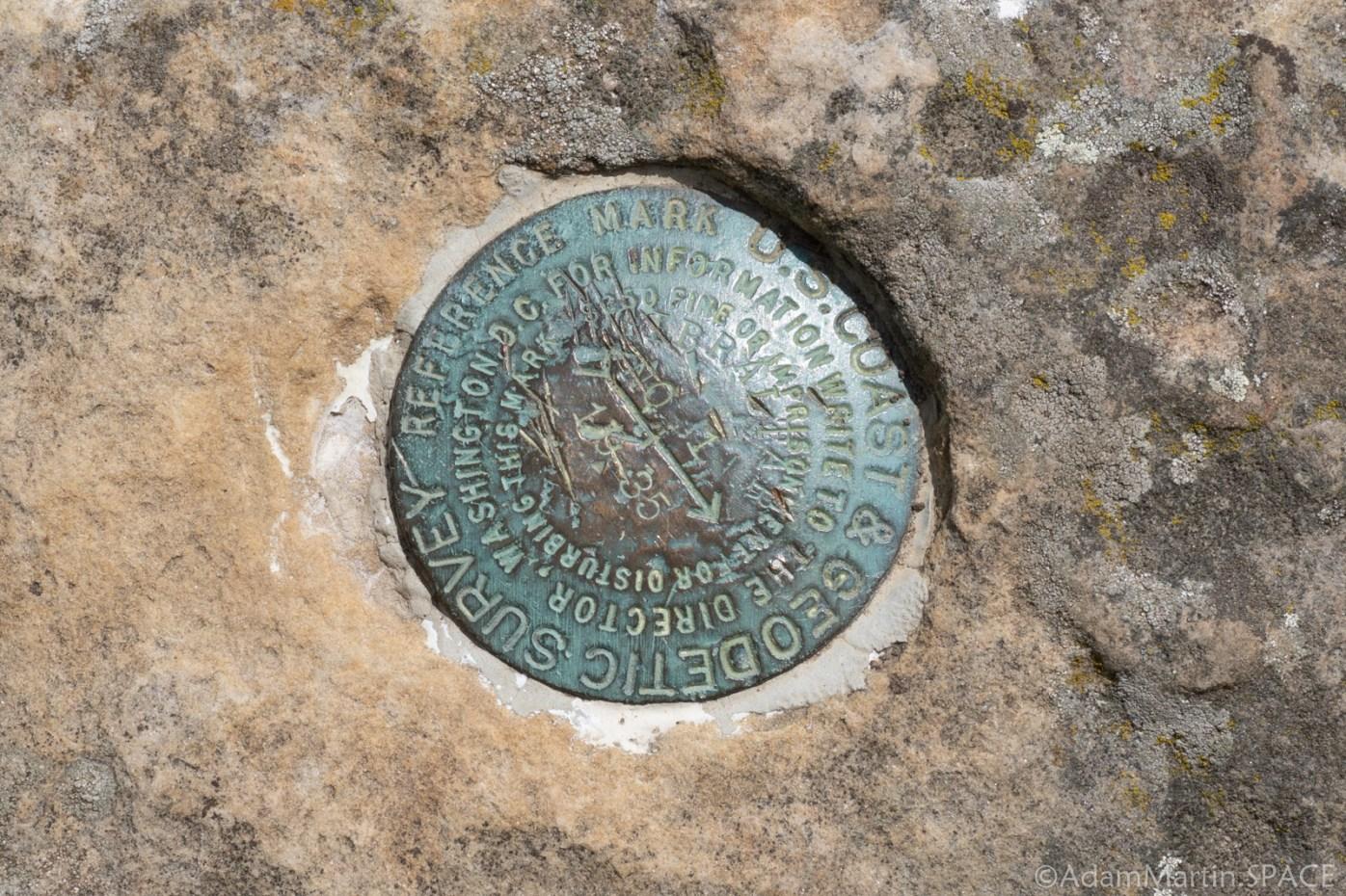 Gibraltar Rock State Natural Area - USGS Marker