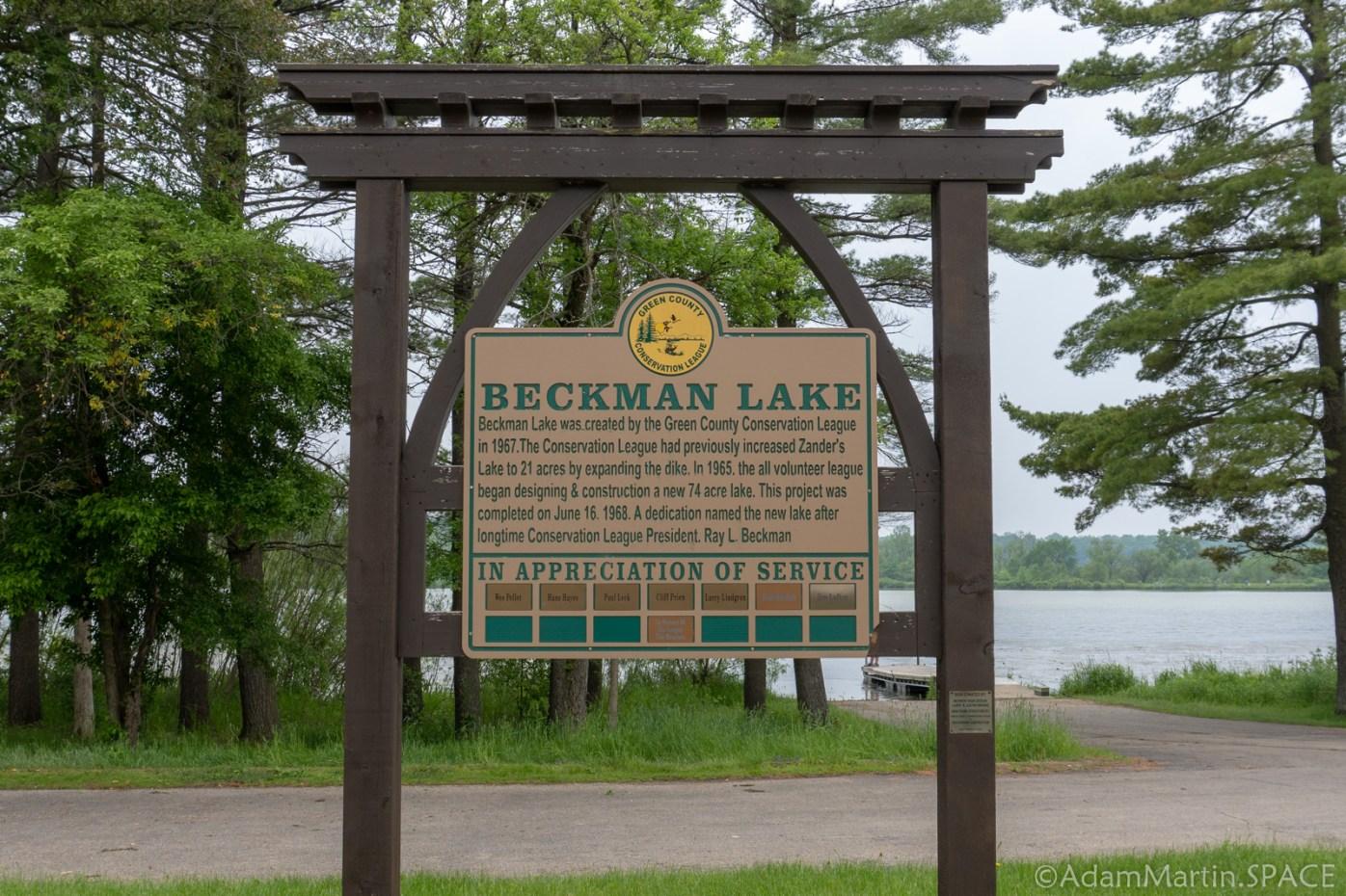 Cadiz Springs State Recreation Area - Beckman Lake Sign