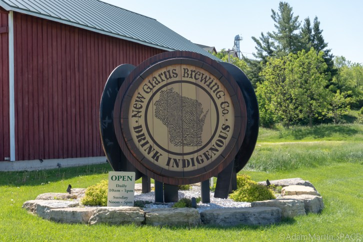 New Glarus Brewery - Entrance Sign