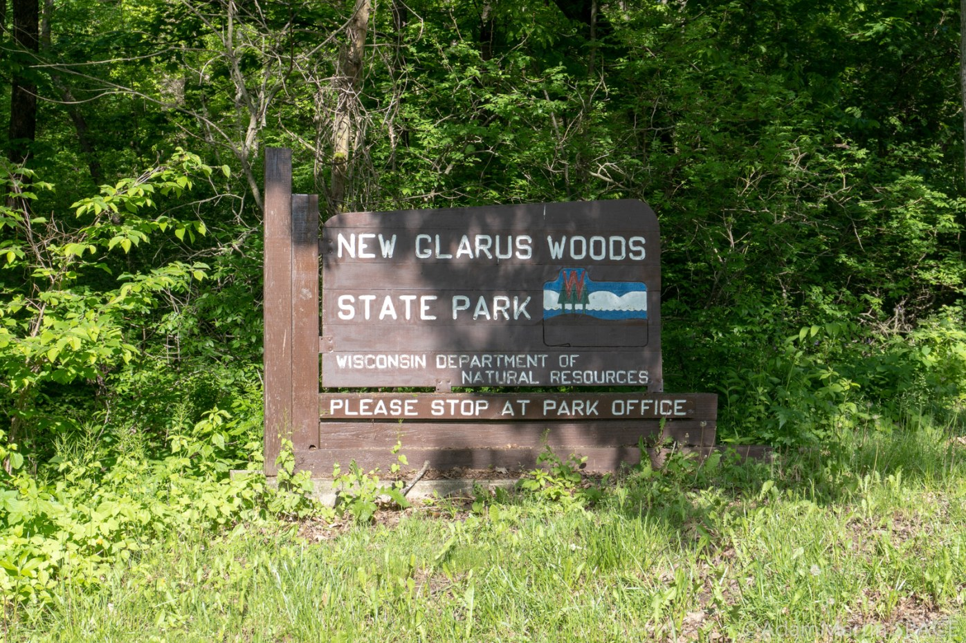 New Glarus Woods State Park - Entrance Sign
