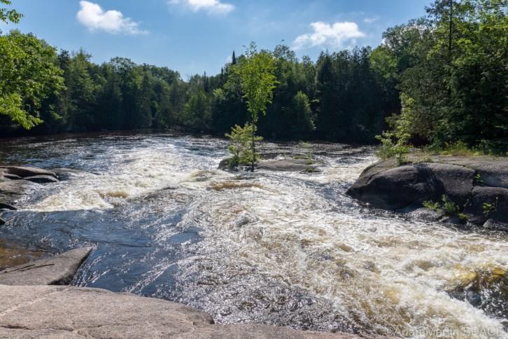 Gilmer Falls - Looking downstream above main falls