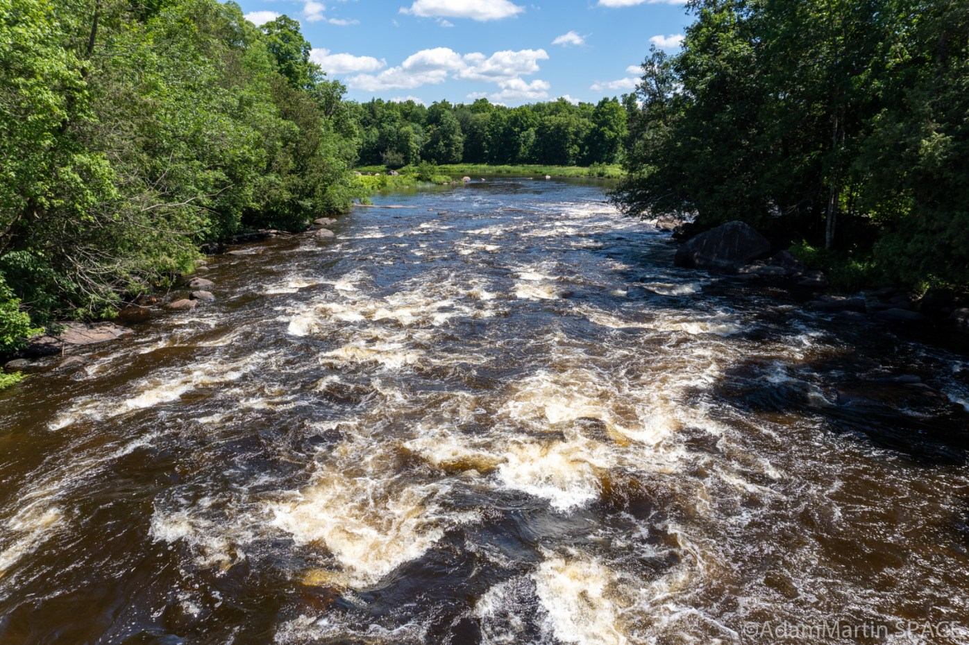 Pissmire Falls - Downstream view from bridge